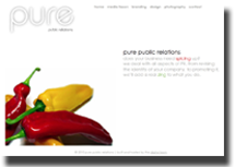 A screenshot of the Pure Public Relations homepage.