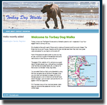 Picture of the Torbay Dog Walks website hompage.